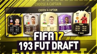 I GOT A 193 FUT DRAFT!!! - FIFA 17 (99.9% IMPOSSIBLE!! BREAKING WORLD RECORDS!)