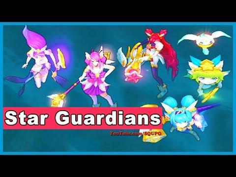 All Star Guardian Skins: Janna,Jinx,Lux,Lulu,Poppy (League of Legends)