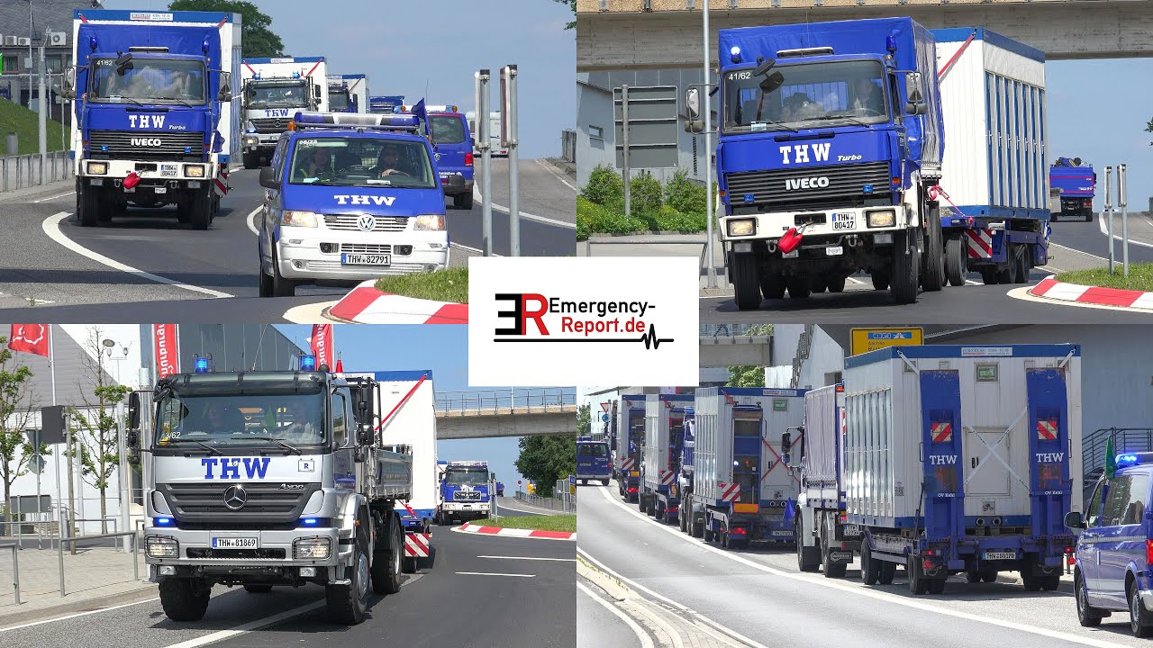 [HOCHWASSER-KATASTROPHE IN RHEINLAND-PFALZ!] - THW transportierte Duschcontainer zum Nürburgring -