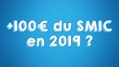 Hausse de 100€ du Smic en 2019 #GiletJaune #MacronDemission #PoudreDePerlimpinpin