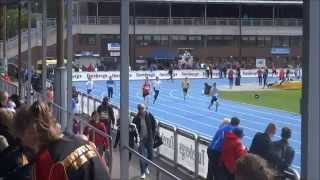 Zion Eriksson, age 13, runs 200m at Sollentuna Athletic Youth Open