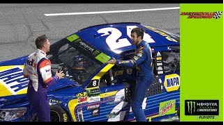 Denny Hamlin, Chase Elliott Get Face To Face, Exchange Words