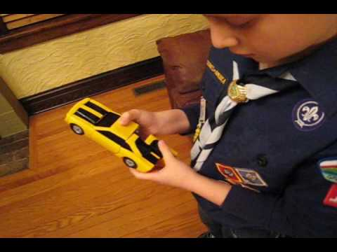 Transforming Bumblebee Pinewood Derby Car Youtube