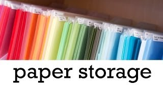Paper Storage - Craft Organization
