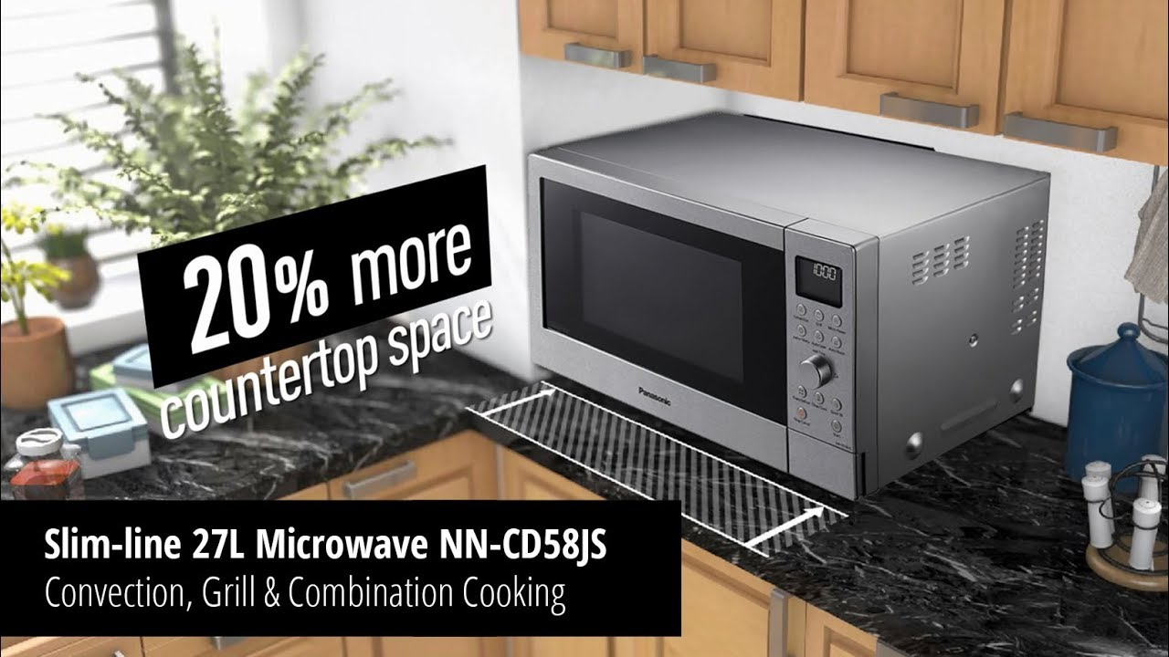 Slim Line 27l Convection Grill And Combination Microwave Nn Cd58js