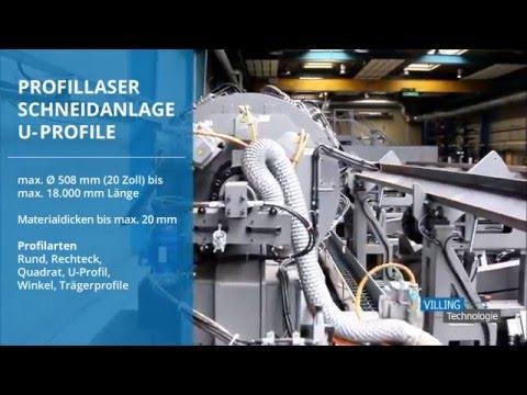 VILLING Technologie - Profillaser Schneidanlage - U Profile