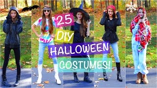 25 DIY LAST MINUTE HALLOWEEN COSTUMES! Taylor Swift, Ariana Grande + More! | Tatiana Boyd