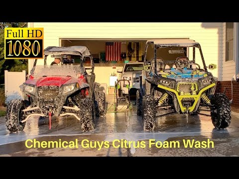 What a Foam Cannon Wash on a RZR Looks Like (#RZR_Dreams)