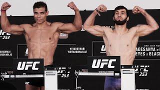 Зубайра показал перевес на 2 кг / Взвешивание Коста - Адесанья, Тухугов - Даводу перед UFC 253