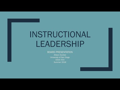 Instructional Leadership Final
