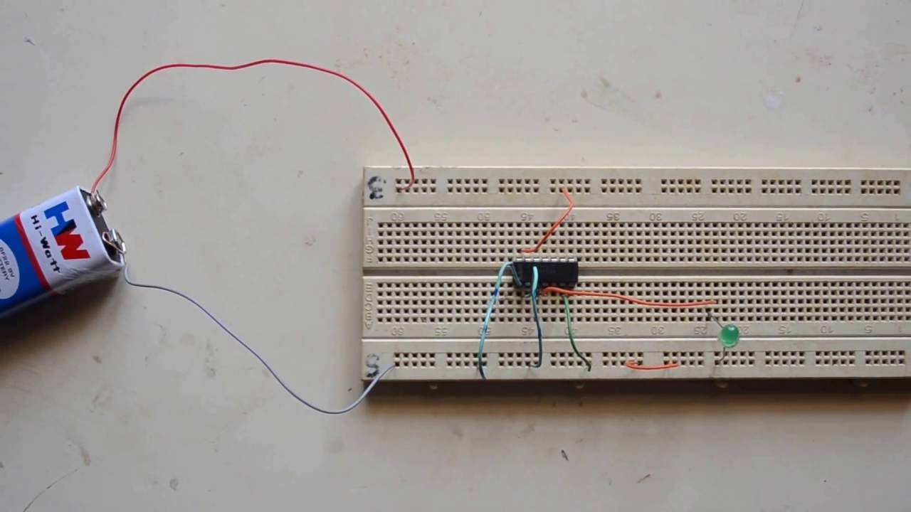 and gate simple experiment using 7408 ic logic gates eee circuits youtube [ 1280 x 720 Pixel ]
