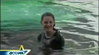 Новолуние - Съемки в воде (русские субтитры)