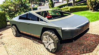 GTA 5 TESLA CYBERTRUCK MOD! - (REAL LIFE MODS)
