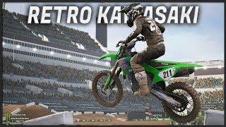 CUSTOM RETRO KAWASAKI!! (Monster Energy Supercross: The Official Videogame)