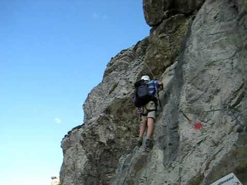 Klettersteig Oberjoch : Iseler oberjoch salewa klettersteig bergführerplatte youtube