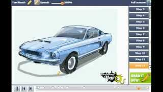 How To Draw A 67 Ford Shelby Mustang Gt 500
