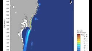 2D animation shows tsunami wave towards Japan