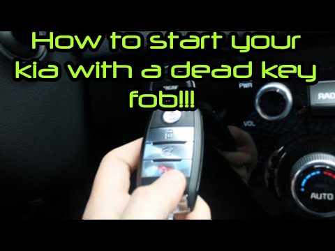 How to start your car with a dead key fob