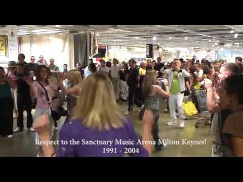 Sanctuary Reunion ravers in a Milton Keynes shop 2008