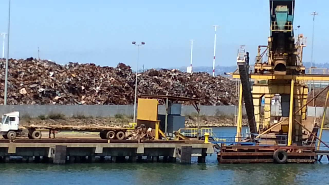 Ferry Ride View Schnitzer Steel Port Of Oakland CA YouTube - Schnitzer scrap yard