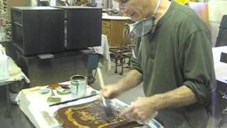 Restoring A Clock Case Panel - Thomas Johnson Antique Furniture Restoration