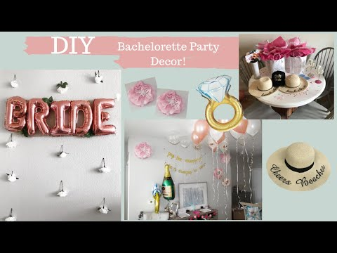 Diy Bachelorette Party Decor Dollar Tree Photo Booth Wall