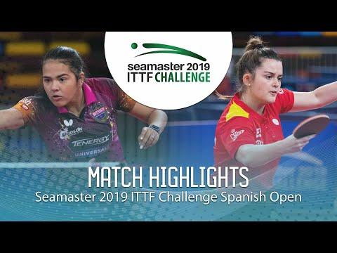 Adriana Diaz Vs Ana Garcia | 2019 ITTF Challenge Spanish Open Highlights (U21-Final)