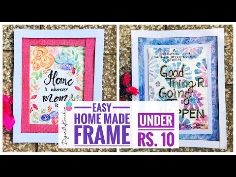 {DIY} Cardboard Frames / HOW TO MAKE A PHOTO FRAME WITH WASTE MATERIAL AT HOME