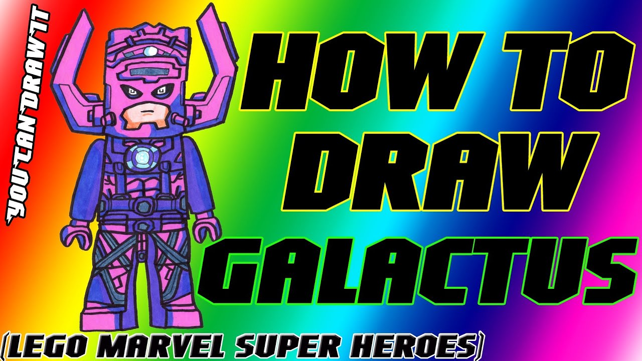 How To Draw Galactus From Lego Marvel Super Heroes