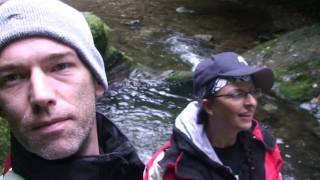 Us 2 at the White Lady Waterfall, Lydford Gorge, Devon UK