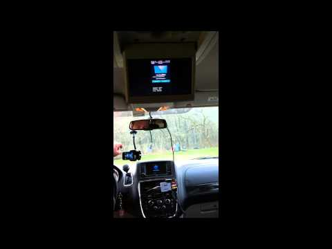 Apple iphone5 mirrored on car radio video out