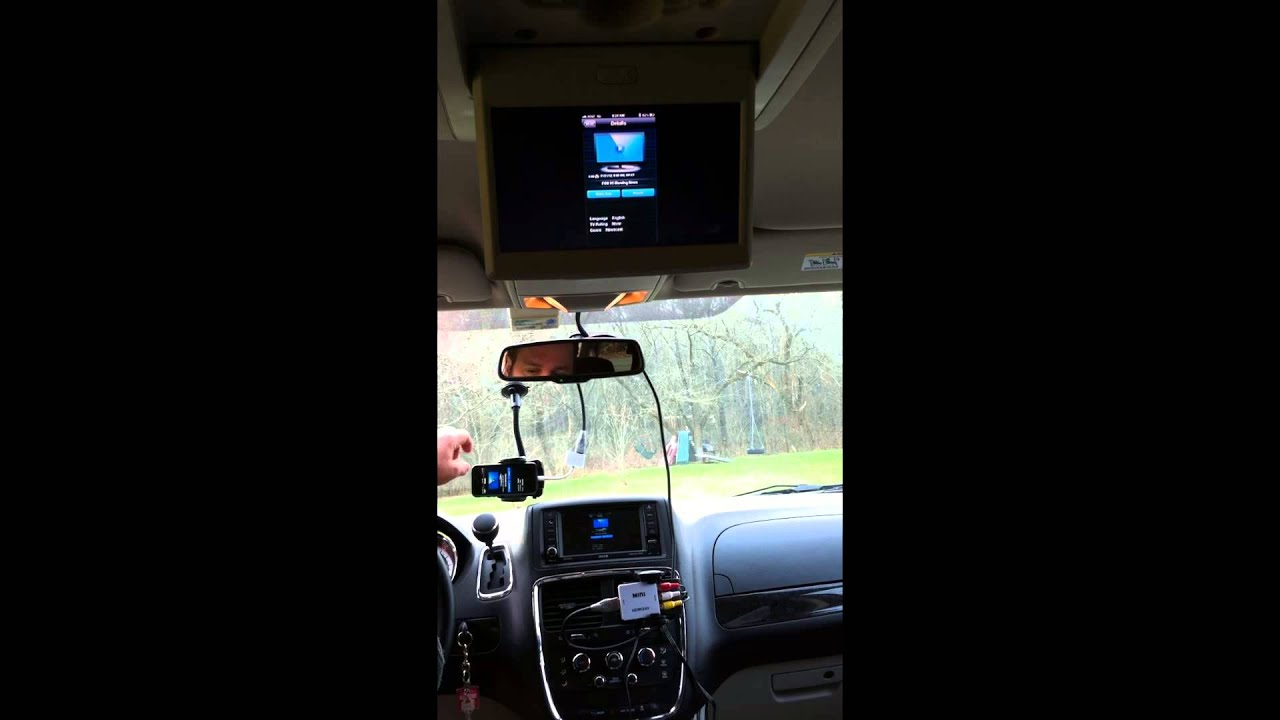 Apple Iphone5 Mirrored On Car Radio Video Out Youtube