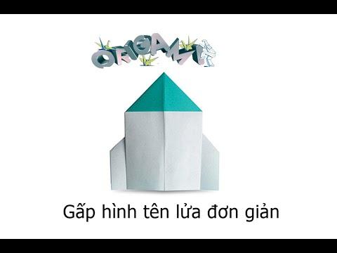 Hướng dẫn cách gấp tên lửa bằng giấy - Xếp hình Origami - How to make a rocket - Tips tutorial