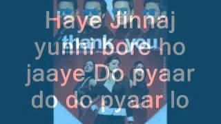 Thank You 2011 - Pyaar Do Pyaar Lo lyrics