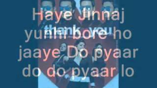 Thank You 2011 - Pyaar Do Pyaar Lo lyrics