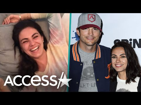 Mila Kunis Can't Stop Laughing In Ashton Kutcher's Pop Culture Quiz