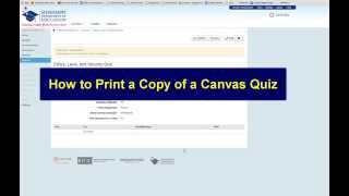 How to print a hardcopy of a Canvas quiz