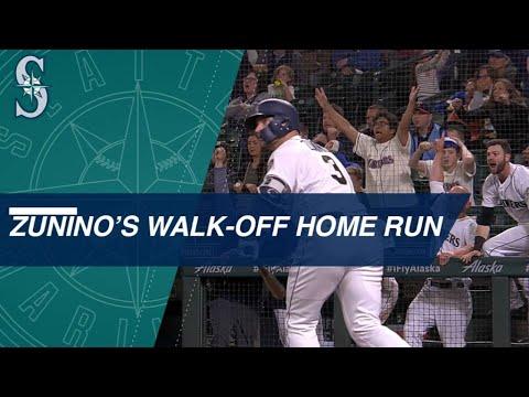 Zunino hits walk-off HR in 12th vs. Twins