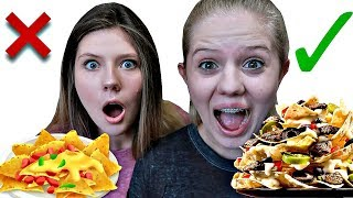 TAYLORS OUT!! In or Out Nacho Challenge with Taylor & Vanessa