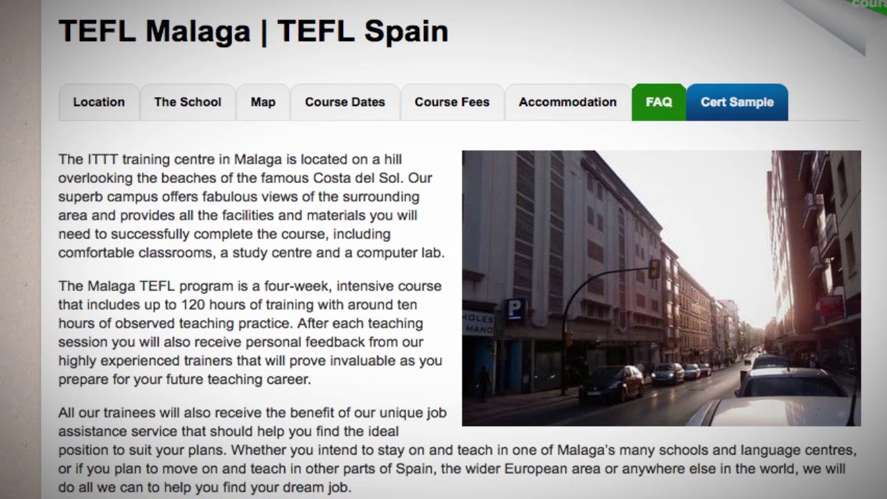 Welcome To Our Tefl Tesol School In Malaga Spain Teach Live