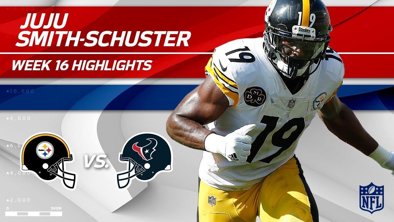 Juju Smith Schuster >> JuJu Smith-Schuster Highlights | Steelers vs. Texans | Wk 16 Player Highlights - YouTube