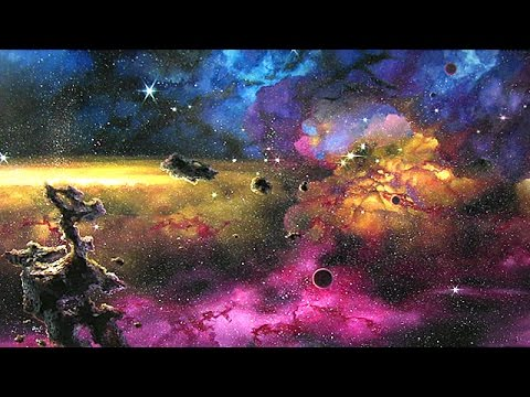 How To Paint Twinkling Stars - Outer Space Scene FINALE!!