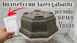 Como Fazer Gabaritos para Moldar seus Vasos de Cimento