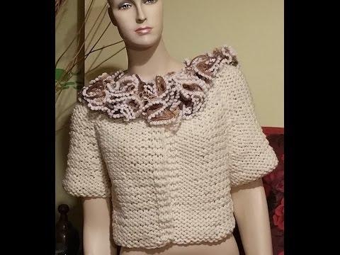 Tutorial giacca cardigan ai ferri  knitting jacket