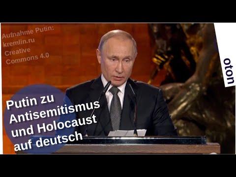 Putin zu Antisemitismus und Holocaust auf deutsch