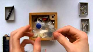 Asmr 3d/binaural. Sewing Box Filled With Relaxing Sounds. (brushing, Scratching, Rubbing, Wood...)