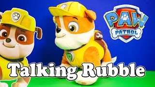 PAW PATROL Nickelodeon Paw Patrol Talking Rubble a Paw Patrol Video Toy Review