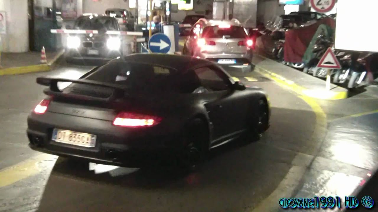 Matt grey porsche 997 gt2 with aftermarket exhaust for Garage schumacher metz