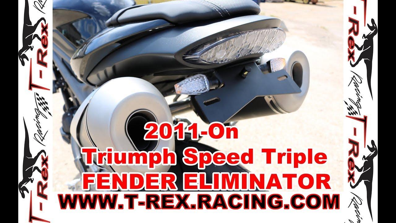 T-Rex Racing 2011-2019 Triumph Speed Triple//R No Cut Frame Sliders