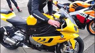 bmws1000rr vs cbr1000rr vs gsxr750 vs cbr600rr vs buell startup and exhaust sound